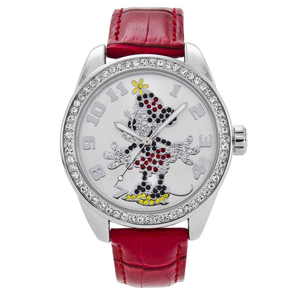 Ingersoll Disney Minnie Mouse Red Leather Watch