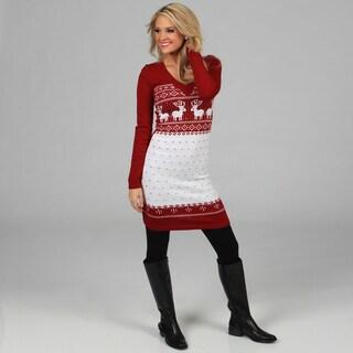 Shop White Mark Women S Boston Red White Sweater Dress