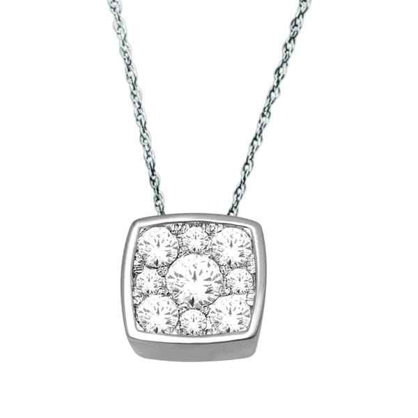 De Couer 10k White Gold 1/4ct TDW Diamond Necklace (H-I, I2)