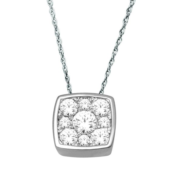 De Couer 10k White Gold 1/4ct TDW Diamond Necklace