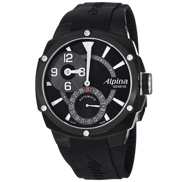 Alpina Men's 'Adventure' Black Dial Black Strap Automatic Watch
