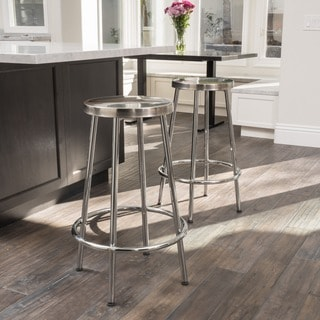 Christopher Knight Home Mayworth Chrome Barstool (Set of 2)