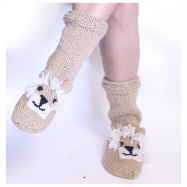 Wool Lion Socks (Nepal)