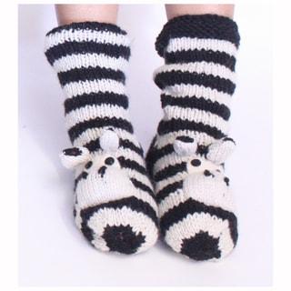 Silly Yeti Zebra Socks (Nepal)