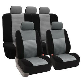 FH Group Trendy Elegance Gray Car Seat Covers Full Set|https://ak1.ostkcdn.com/images/products/7318197/P14787092.jpg?impolicy=medium