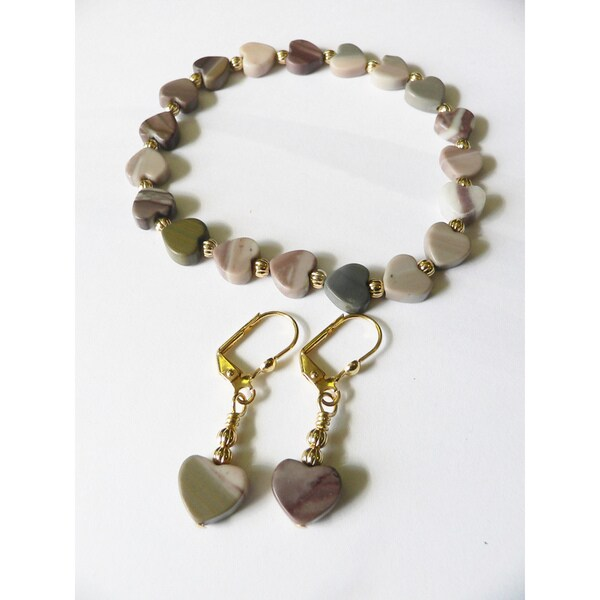 Hearts in Atlantis' Bracelet and Earring Set