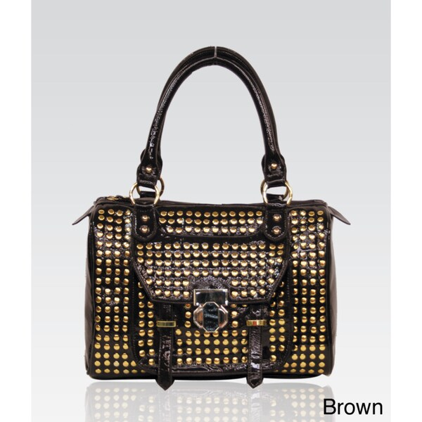 Galian Studded Satchel Bag