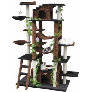 Go Pet Club 77-inch High Brown/ Black Huge Cat Tree