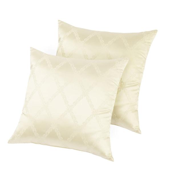 European Legacy Silk Jacquard Decorative Accent Pillows (Set of 2)