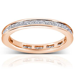 Annello by Kobelli 14k Gold 1ct TDW Princess Diamond Eternity Ring (G-H, SI1-SI2)