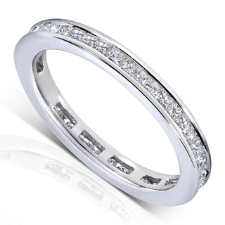 Annello by Kobelli 14k Gold 1ct TDW Princess Diamond Eternity Ring (G-H, SI1-SI2)