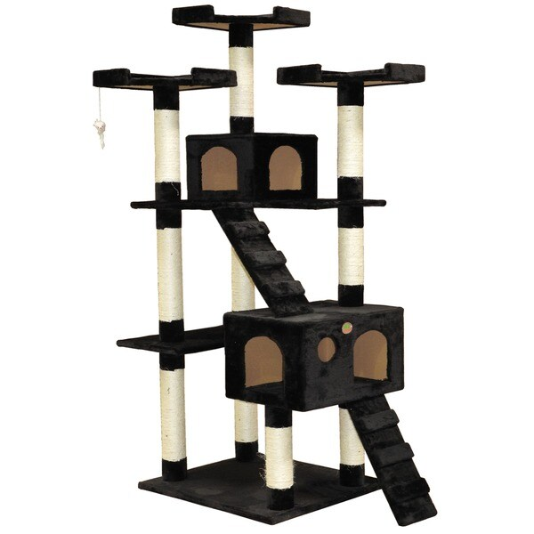 Go Pet Club 72-inch High Black Cat Tree