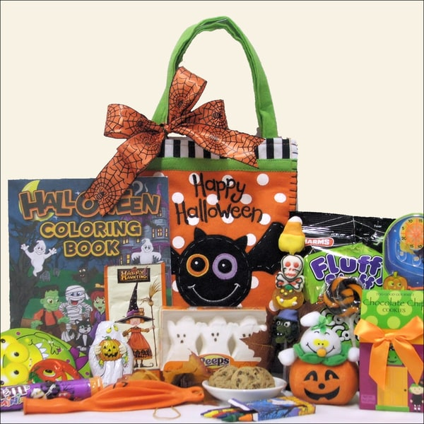 Spooky Sweets and Treats Halloween Gift Basket for Kids