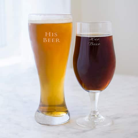 His & Hers Pilsners Glasses