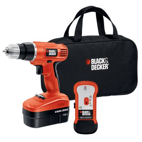 Black & Decker Black Metal and Plastic 18-volt Cordless Drill and Bit