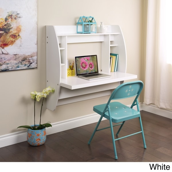 Floating Desk with Storage - Free Shipping Today - Overstock.com - 14790332
