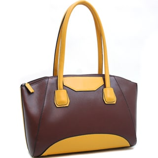 Dasein Classic Chic Two-Toned Shoulder Bag