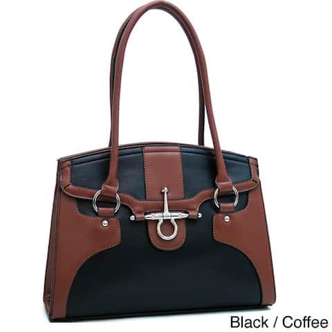 Dasein Two-Tone Chic Anchor Shoulder Bag
