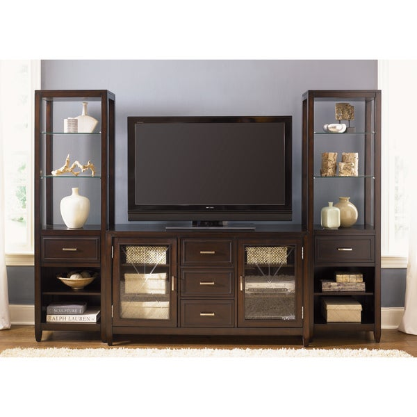 liberty caroline 60 inch tv stand and 2 pier entertainment set free shipping today overstock. Black Bedroom Furniture Sets. Home Design Ideas