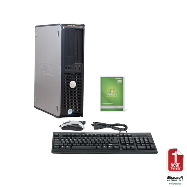 Dell Optiplex 760 Intel Core 2 Duo 3.0GHz CPU 4GB RAM 750GB HDD Windows 10 Home Desktop Computer (Refurbished)