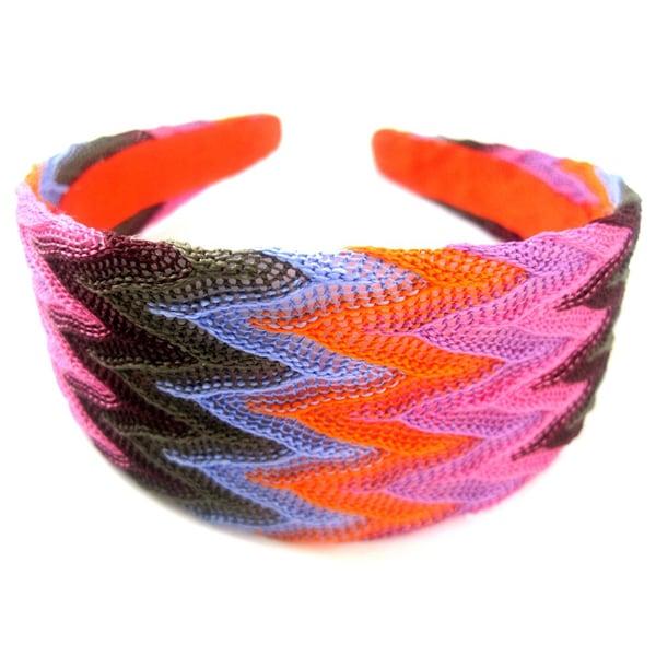 Crawford Corner Shop Zig Zag Orange Blue Multi Headband