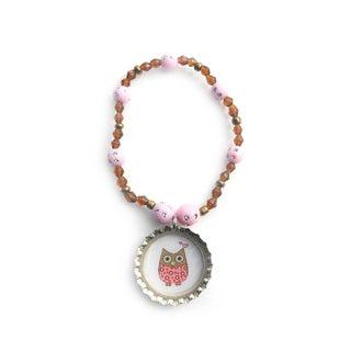 Boutique Owl Bottle Cap Bracelet