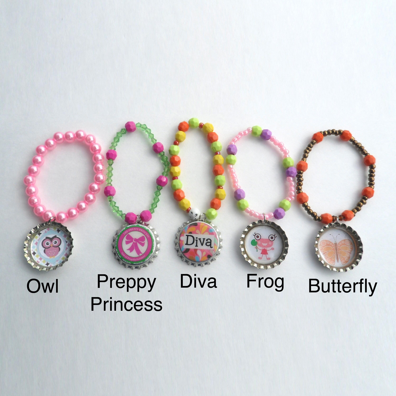 Envy Bottle Cap Bracelet (Butterfly), Women's, Multi, Siz...
