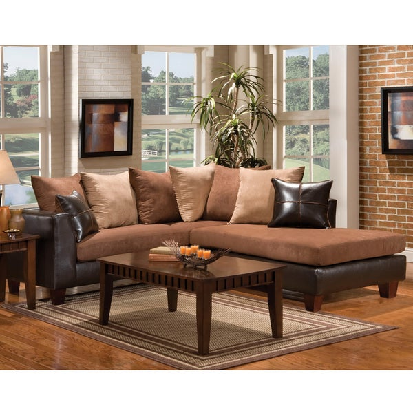 Furniture of America Leatherette Sectional Sofa