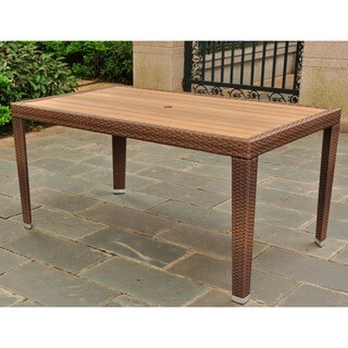 International Caravan Resin Wicker/Aluminum Outdoor Table (4 options available)