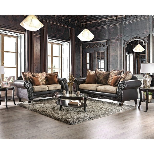 Shop Furniture Of America 'Nicolai' 2-piece Sofa Set