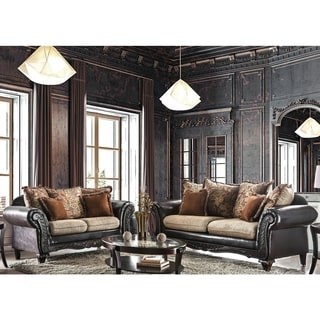 Furniture of America 'Nicolai' 2-piece Sofa Set