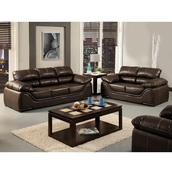 Furniture of America 'Daniel' Espresso 2-piece Sofa Set