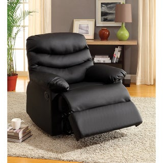 Furniture of America Mitchel Black Bonded Leather Recliner