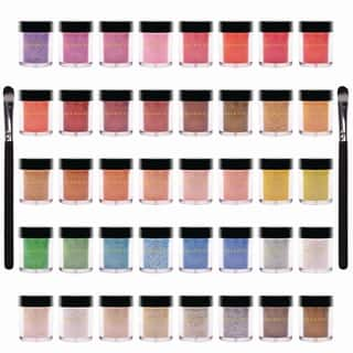 Shany 40-Piece Pearl & Glitter Mineral Base Eye Shadow Set|https://ak1.ostkcdn.com/images/products/7322082/P14790403.jpg?impolicy=medium