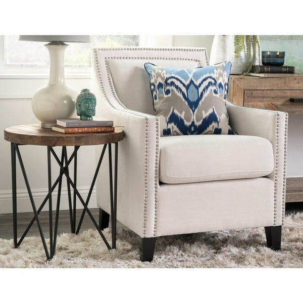Bella Ivory Upholstered Arm Chair by Kosas Home