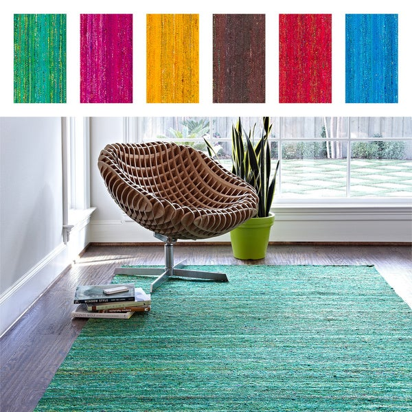 Hand-woven Loire Silk Rug (5' x 7'6)