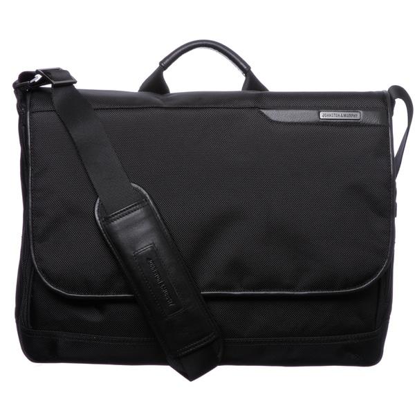 Johnston & Murphy Black Messenger Bag