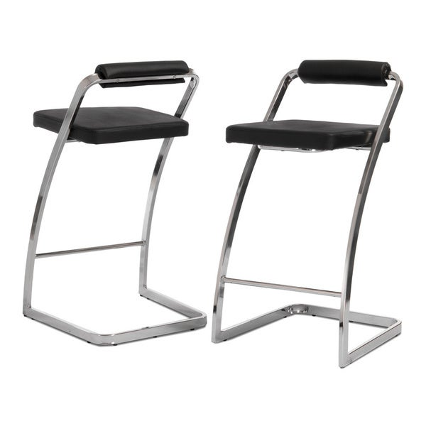 Geneva Modern Black Barstools (Set of 2) by Christopher Knight Home