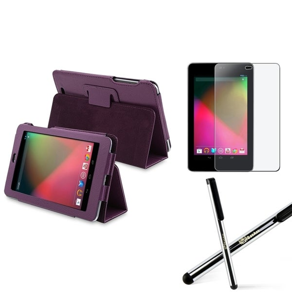 BasAcc Purple Case/ Screen Protector/ Stylus for Google Nexus 7