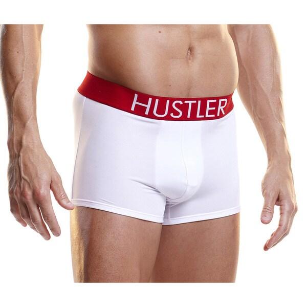 Hustler Logo White Microfiber Trunks (Set of 2)