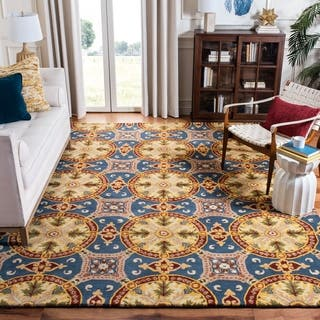 Safavieh Handmade Wyndham Blue New Zealand Wool Rug|https://ak1.ostkcdn.com/images/products/7322249/P14790505.jpg?impolicy=medium