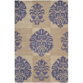 Safavieh Handmade Wyndham Beige New Zealand Wool Rug
