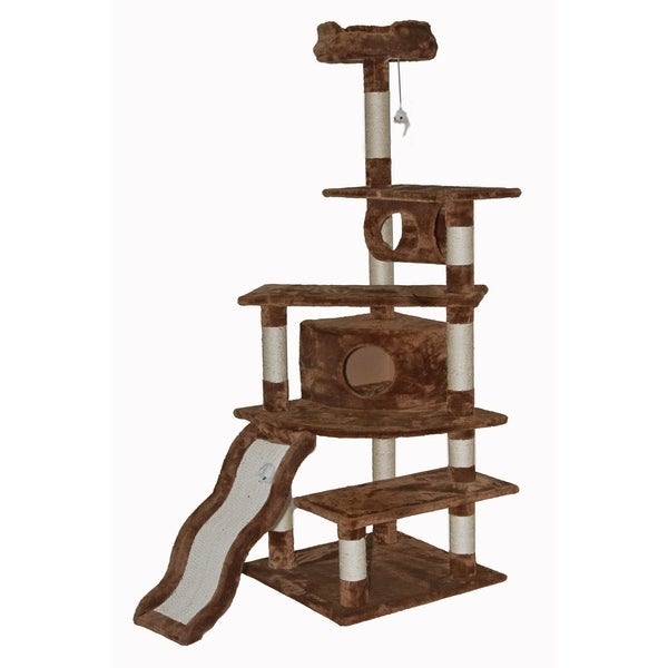 Go Pet Club Brown 70-inch High Cat Tree Furniture