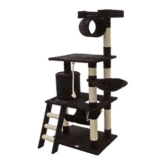 Go Pet Club Black 62-inch High Cat Tree Furniture