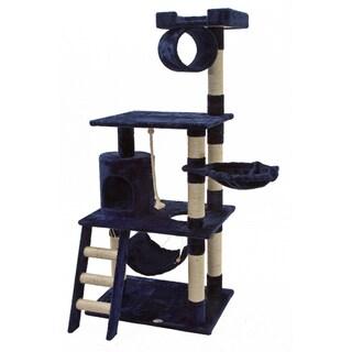 Go Pet Club Blue 62-inch High Cat Tree Furniture