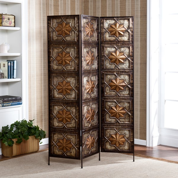 Harper Blvd Silverstone Black/ Gold 3-panel Decorative Screen
