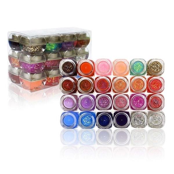 Shany Glitter Frenzy Powdered Acrylic UV Gel (Set of 24)