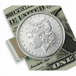 American Coin Treasures Sterling Silver Morgan Dollar Moneyclip