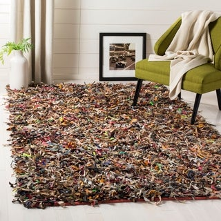 Safavieh Handmade Leather Shag Carlijn Modern Leather Rug