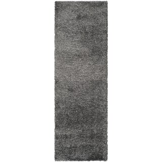Clay Alder Home Coldwater Cozy Plush Dark Grey/ Charcoal Shag Rug (More options available)